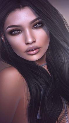 Imagem de 3d, beauty, and illustration girl
