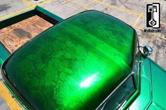 Lace is sexy! Custom Paint with tons-o-Metal Flake http://www.myrideisme.com/Blog/be-flakey-metal-flake-roof/