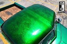 metal flake paint, flaked roof, custom paint jobs