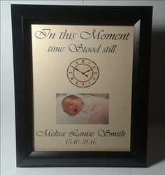 In this moment baby keepsake, personalised Louise Smith, Baby Keepsake, Childrens Gifts, Baby Gifts, In This Moment, Gifts For Baby, Gifts For Children, Baby Presents