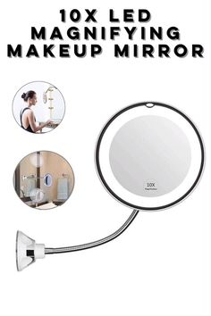 --Video Pin-- Magnifying LED Lighted Makeup Mirror keep the distance between face and magnifying mirror within for a better view and in case of dizziness and image upside down. Beauty Blender How To Use, Hair Up Or Down, Magnifying Mirror, Makeup Mirror With Lights, Makeup Rooms, Body Lotion, Makeup Yourself, Cool Things To Buy, Eye Makeup