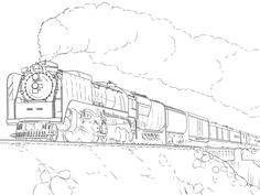 union pacific train coloring page - Coloring Pages Trains