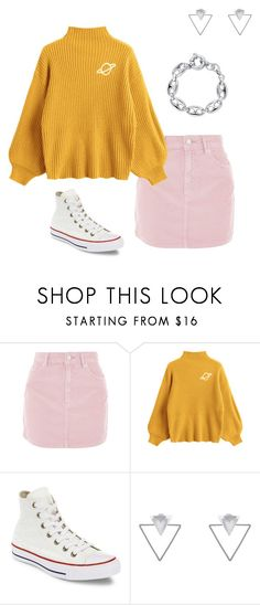 """pastel grunge #1"" by jessytrash ❤ liked on Polyvore featuring Topshop, Converse, Eloquii and BERRICLE"
