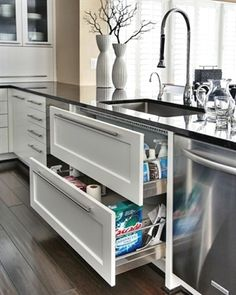 I am always on the lookout for clever remodeling ideas and wanted to share some of my favorite finds.  #kitchenremodeling