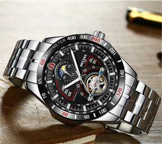 b4c0d34e5f2a BOYZHE reloj mecánico automático para hombres.  relojhombre relojhombrebaratos   relojmasculino Reloj De Acero