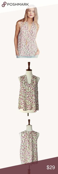 Anthropologie Enna Tank This is an adorable Vespa print top. Perfect for a summer day or layered with a sweater! This top is one of Anthropologie's featured brands: Maeve. Across the chest. shoulder 22 inches to hem 23 inches. Anthropologie Tops Blouses