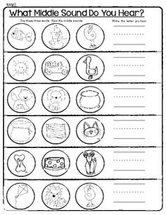 Worksheet Phonemic Awareness Worksheets For Kindergarten student beginning sounds and middle on pinterest sensational worksheets ending phonemic awareness