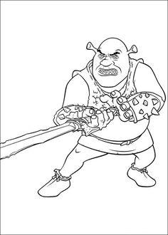 Shrek Tegninger til Farvelægning. Printbare Farvelægning for børn. Tegninger til udskriv og farve nº 89