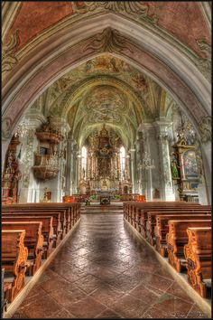 Maria Alm - the pilgrimage church by Paul Sirugo, via 500px.  We visited this most beautiful church in Maria Alm.  Outside is a lovely cemetery.......this town is beautiful!