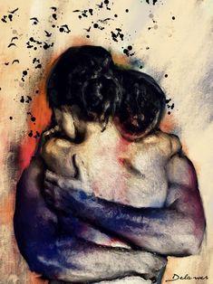 Couple Painting, Couple Art, Love Painting, Flame Art, Romance Art, Foto Art, Heart Art, Erotic Art, Aesthetic Art