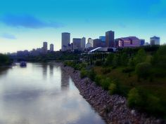A heavily modified view of the river valley in Edmonton, AB. Western Canada, The Province, Alberta Canada, Capital City, Calgary, Great Places, Have Fun, Places To Visit, Earth