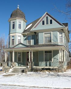 Victorian home... the dome and light colors give it a softer, homier feel. I love this house :)