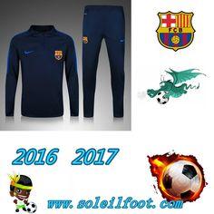 Liga: Survetements Enfant FC Barcelone Enfant Bleu 2016-2017 Chine Pas Chere