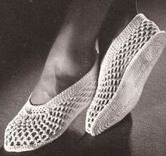 Crochet Mesh Spa Slippers Shower Water Shoes Pattern OpenMeshSlippers