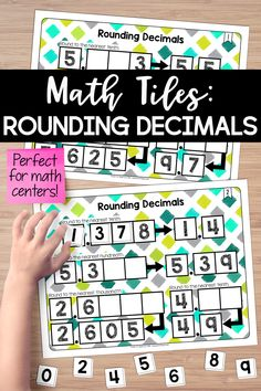 Need a math center for rounding decimals? This set of math tiles is perfect for your next math workshop or guided math session. Students must place 10 number tiles on the math tile cards to correctly complete rounding problems. Rounding Activities, 5th Grade Activities, Math Games, Rounding Decimals, Ordering Decimals, Teaching Fractions, Math Fractions, Math Tutor, Math Education