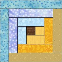 Block of Day for July 07, 2015 - Log Cabin