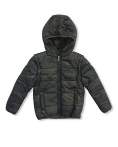the CAMO puffer. available in ages 0 - 14. www.industriekids.com.au