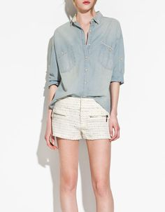 Oversized Denim Shirt!