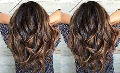 Hair Highlights - Parmi la couleur des cheveux les plus tendanceen 2016 estl'ombré hair caramel. Les brunes sont les femmes qui portent les plus cette tendance.Avec un reflet blond ce choix semble être parfait pour l'été. Si vous avez envie de porter cette tendance voici quelques modèles pour vous inspir…