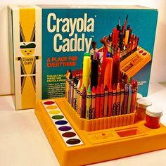 The crayola caddy. Much things created with this 1980s Childhood, My Childhood Memories, Sweet Memories, 1980s Toys, Retro Toys, Vintage Toys, School Memories, 80s Kids, I Remember When