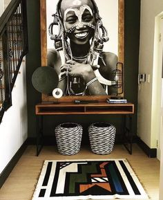 african home decor Home decor goals. You can find more African-inspired companies to shop with in the OBWS directory. in the bio! African Living Rooms, African Themed Living Room, African Bedroom, Home Interior, Interior Decorating, Kitchen Interior, Interior Tropical, African Interior Design, African Design