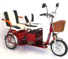 Fun in the sun with Trikaroo boomer tandem 2 seater electric mobility scooter