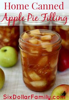 Canning season is in full swing and this home canned apple pie filling is perfect for your own shelves to to give as a gift! Canning season is in full swing and this home canned apple pie filling is perfect for your own shelves to to give as a gift! Recipe For Canning Apple Pie Filling, Homemade Apple Pie Filling, Apple Pie Recipes, Apple Pie Recipe With Canned Apples, Fruit Filling Recipe, Filling Food, Apple Filling, Jam Recipes, Canning Apples