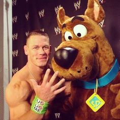 John Cena and Scooby-Doo