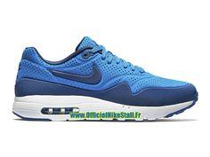 size 40 dd5c5 286aa Nike Air Max 1 Ultra Moire - Chaussure Nike Officiel Pas Cher Pour Homme  Bleu photo Blanc Bleu insigne 705297-401