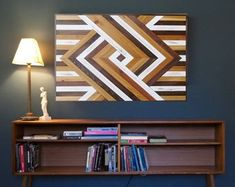Unique Wood Wall Art and Home Decor by LakefrontWoods on Etsy Wood Wall Decor, Wooden Wall Art, Diy Wall Art, Wood Art, Wood Projects, Woodworking Projects, Geometric Wall Art, Wood Patterns, Picture On Wood