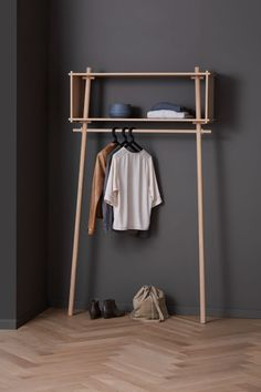 Buy wardrobe from Woud in the Garderobe von Woud im Shop kaufen The Töjbox by Woud is the perfect wardrobe for narrow corridors. In the bedroom, she is used as a clothes rail. With its practical shelf, it replaces an open wardrobe Buy Wardrobe, Open Wardrobe, Wardrobe Design, Perfect Wardrobe, Sliding Wardrobe, Bedroom Wardrobe, Wardrobe Doors, Wardrobe Ideas, Wood Furniture