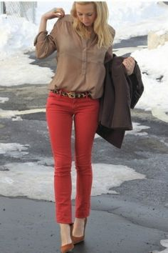 Must wear my red skinny jeans now!