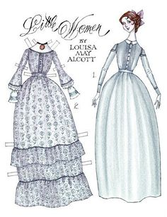 """Legacy Pride, Volume I Number II; Children's Classic Books & Movies: Louisa May Alcott's """"Little Women:"""" Jo March, a paper doll by Donald Hendricks of Paper Toys, Paper Crafts, Paper Cutting, Paper Dolls Printable, Bobe, Vintage Paper Dolls, Retro Toys, Doll Crafts, Doll Patterns"""
