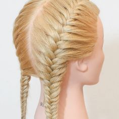 Easy Hairstyles For Long Hair, Braids For Long Hair, Girl Hairstyles, Braided Hairstyles, French Fishtail, How To Fishtail, Fishtail Braid Styles, Dutch Fishtail Braid, Double French Braids