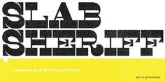 Slab Sheriff - Desktop font « MyFonts