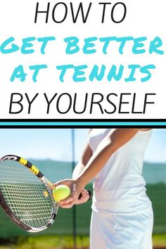 If you don& have a tennis partner to play with.no worries. There are many tennis drills and ways to practice tennis by yourself. Try these simple tennis drills to improve your serve, mental game, and ground strokes. Tennis Games, Tennis Gear, Pro Tennis, Tennis Tips, Tennis Serve, Tennis Match, Game Day Quotes, How To Play Tennis, Tennis Funny