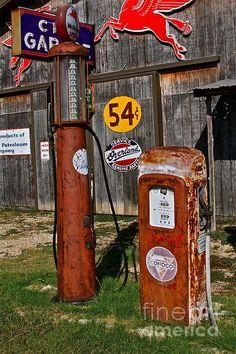 Conoco Mobil Gas Pumps