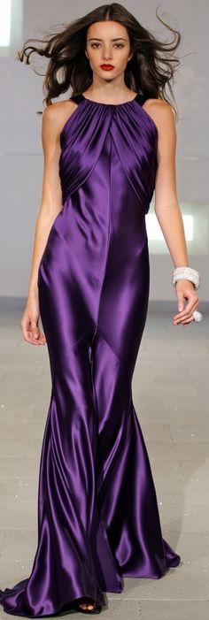 43 styles you will wear easily - gorgeous purple dress The Purple, Shades Of Purple, Purple Dress, Purple Satin, Purple Evening Dress, Elegante Jumpsuits, Purple Fashion, Satin Dresses, Prom Dresses