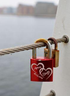 Love locks at Bryggebroen, Copenhagen