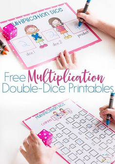 This fun free printable multiplication dice activity is a great way to review multiplication facts with your kids! They love the double-dice! via @lifeovercs