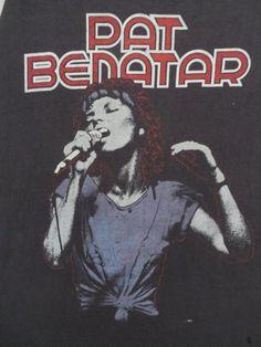 PAT BENATAR 1980s tour T SHIRT by rainbowgasoline on Etsy