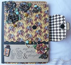Awesomely beautiful altered composition book!