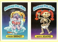 SALE Vintage Garbage Pail Kids Two Large TOPPS Chewing Gum