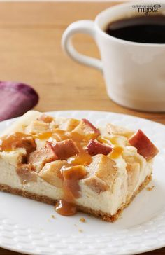 Gâteau au fromage au caramel et aux pommes #recette