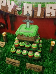 Minecraft Birthday Party Ideas | Photo 4 of 18 | Catch My Party