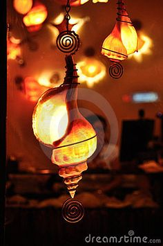 Seashell Lamps Royalty Free Stock Images - Image: 16679879
