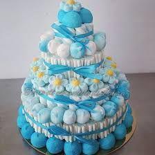 Resultado de imagen de composizioni con marshmallow Candy S, Candy Cakes, Candy Party, Marshmallow Cake, Rainbow Treats, Icing Recipe, Diy Cake, Candy Buffet, Sweet Desserts