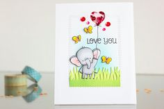 Birdie Brown Adorable Elephants stamp set - Amana Korotkova #mftstamps