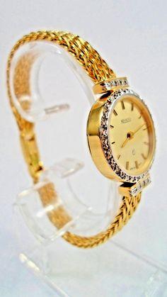 e5f52fe5 Damen Schweizer 14 Kt Gelbgold Armbanduhr Rivado, 40 Diamanten, 27,8 g