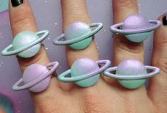 Out of this world saturn shaped rings #pale #kawaii #inrealife ❤